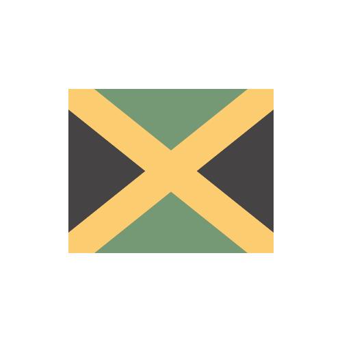 ジャマイカ 国旗 カラーアイコン フリー素材