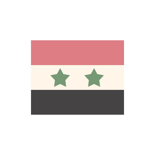 シリア・アラブ共和国 国旗 カラーアイコン フリー素材