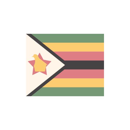 ジンバブエ 国旗 カラーアイコン フリー素材