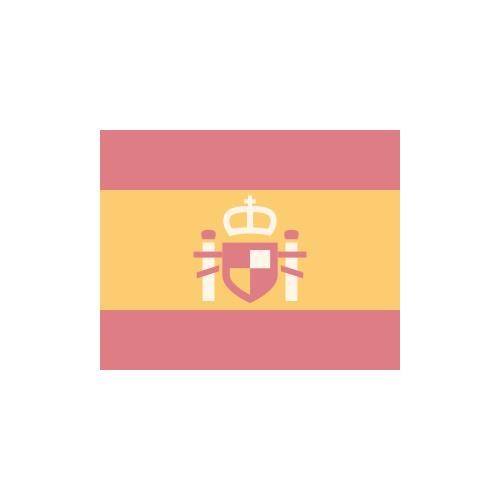 スペイン 国旗 カラーアイコン フリー素材