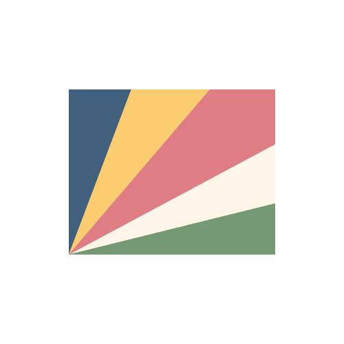セーシェル 国旗 カラーアイコン フリー素材