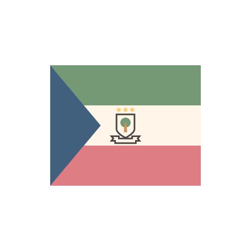 赤道ギニア 国旗 カラーアイコン フリー素材