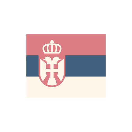 セルビア 国旗 カラーアイコン フリー素材