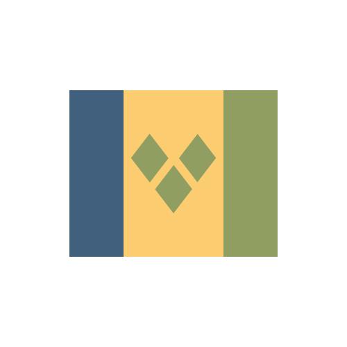 セントビンセント/グレナディーン諸島 国旗 カラーアイコン フリー素材