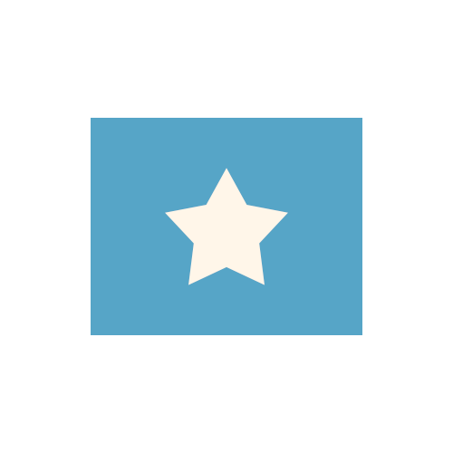 ソマリア 国旗 カラーアイコン フリー素材