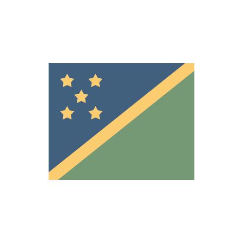 ソロモン諸島 国旗 カラーアイコン フリー素材