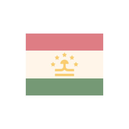 タジキスタン 国旗 カラーアイコン フリー素材
