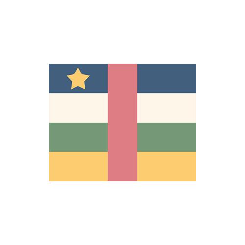 中央アフリカ 国旗 カラーアイコン フリー素材