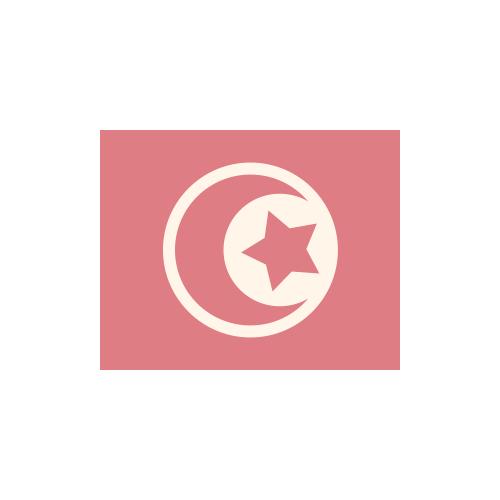 チュニジア 国旗 カラーアイコン フリー素材