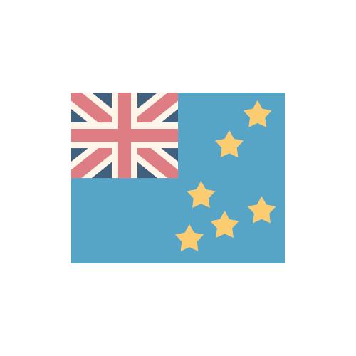ツバル 国旗 カラーアイコン フリー素材