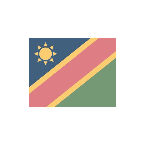 ナミビア 国旗 カラーアイコン フリー素材