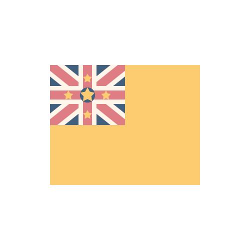 ニウエ 国旗 カラーアイコン フリー素材
