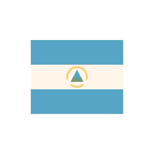 ニカラグア 国旗 カラーアイコン フリー素材