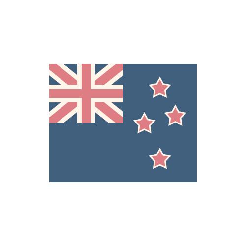 ニュージーランド 国旗 カラーアイコン フリー素材