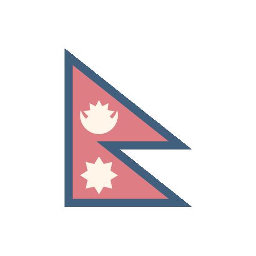ネパール 国旗 カラーアイコン フリー素材