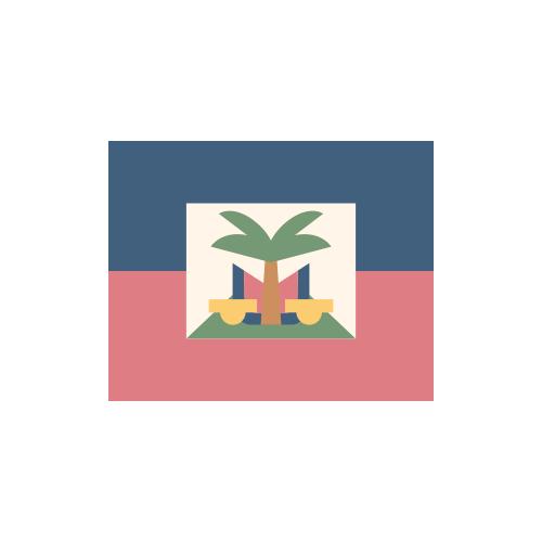 ハイチ 国旗 カラーアイコン フリー素材