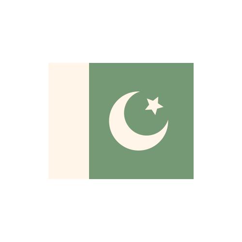 パキスタン・イスラム共和国 国旗 カラーアイコン フリー素材