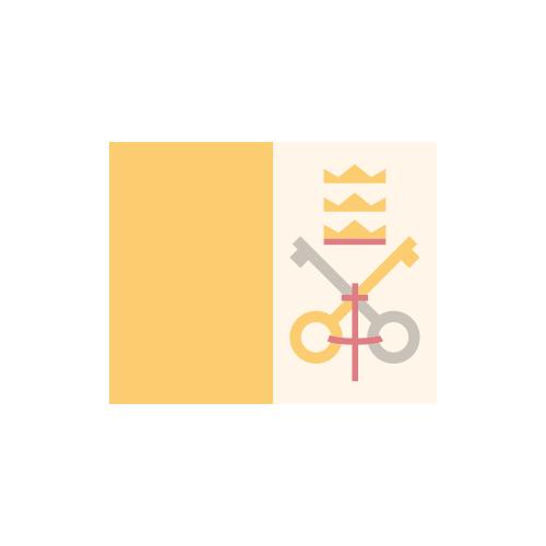 バチカン 国旗 カラーアイコン フリー素材