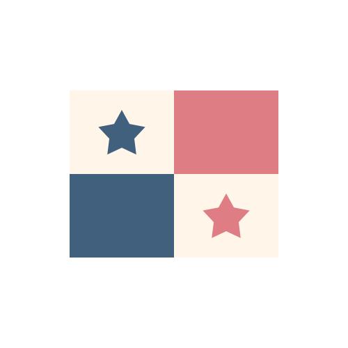 パナマ 国旗 カラーアイコン フリー素材