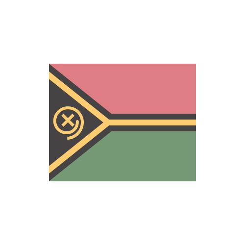 バヌアツ 国旗 カラーアイコン フリー素材