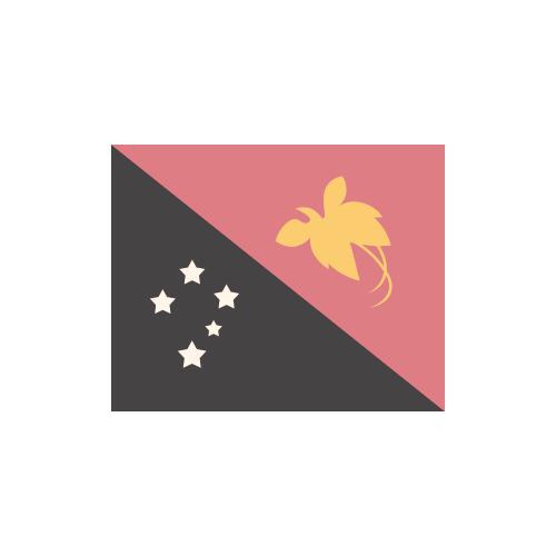パプアニューギニア 国旗 カラーアイコン フリー素材