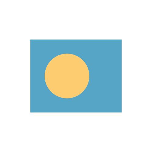 パラオ 国旗 カラーアイコン フリー素材