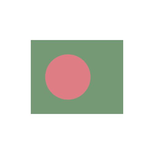 バングラデシュ 国旗 カラーアイコン フリー素材