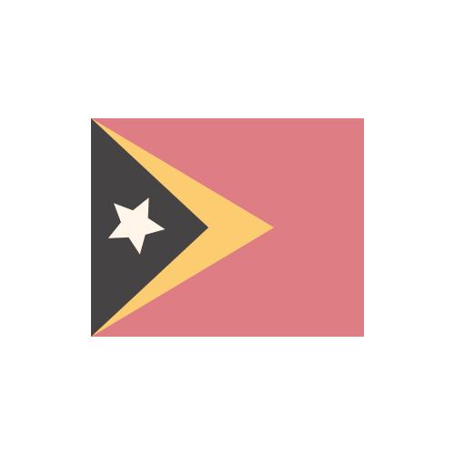 東ティモール 国旗 カラーアイコン フリー素材