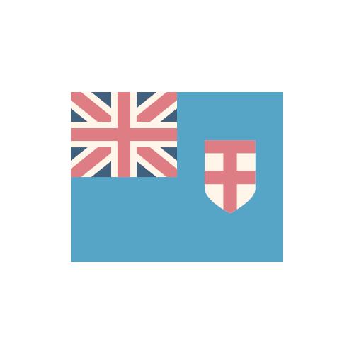 フィジー 国旗 カラーアイコン フリー素材