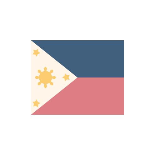 フィリピン 国旗 カラーアイコン フリー素材
