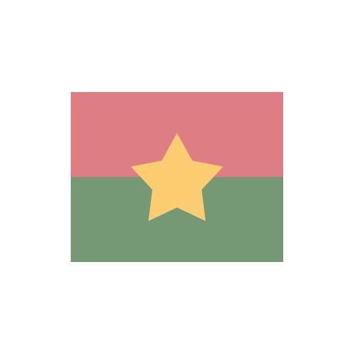 ブルキナファソ 国旗 カラーアイコン フリー素材