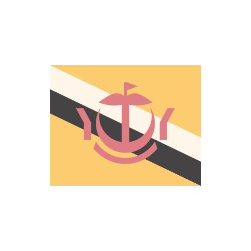 ブルネイ・ダルサラーム国 国旗 カラーアイコン フリー素材