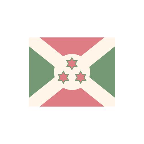 ブルンジ 国旗 カラーアイコン フリー素材