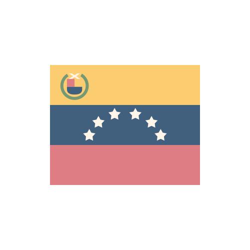 ベネズエラ・ボリバル共和国 国旗 カラーアイコン フリー素材