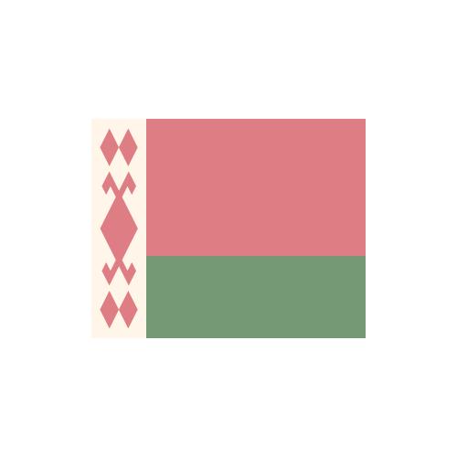 ベラルーシ 国旗 カラーアイコン フリー素材