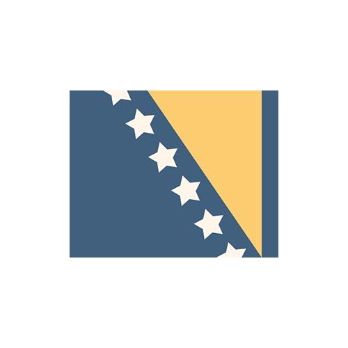 ボスニア・ヘルツェゴビナ 国旗 カラーアイコン フリー素材