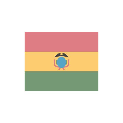 ボリビア 国旗 カラーアイコン フリー素材