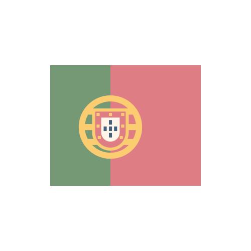 ポルトガル 国旗 カラーアイコン フリー素材