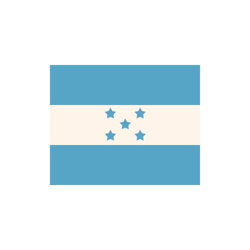 ホンジュラス 国旗 カラーアイコン フリー素材