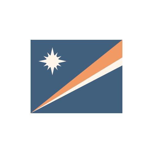 マーシャル 国旗 カラーアイコン フリー素材