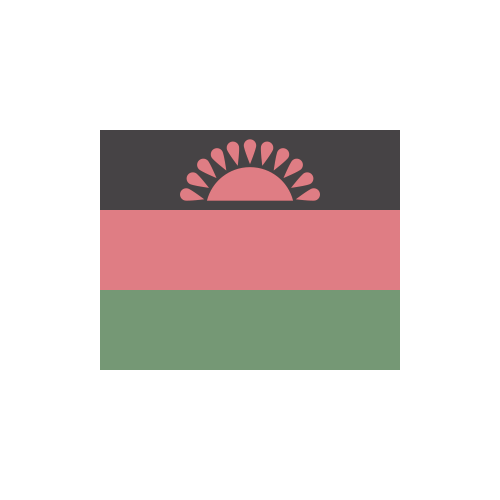 マラウイ 国旗 カラーアイコン フリー素材