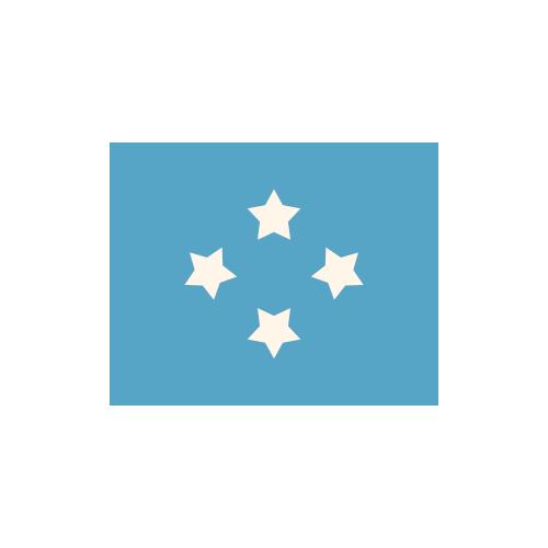 ミクロネシア 国旗 カラーアイコン フリー素材