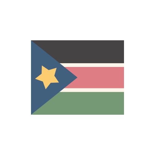 南スーダン 国旗 カラーアイコン フリー素材