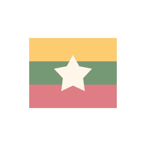 ミャンマー 国旗 カラーアイコン フリー素材
