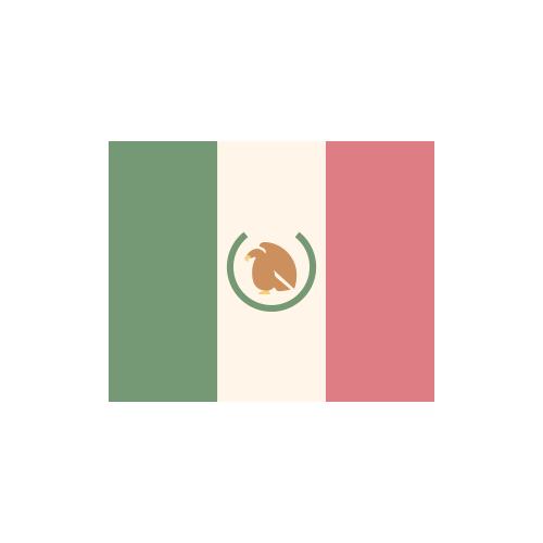 メキシコ 国旗 カラーアイコン フリー素材