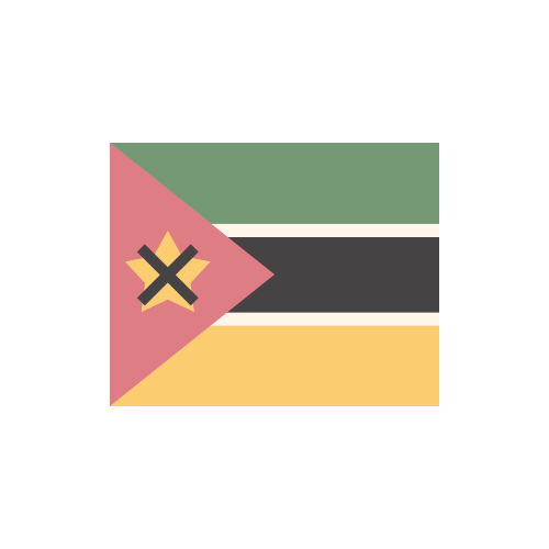 モザンビーク 国旗 カラーアイコン フリー素材
