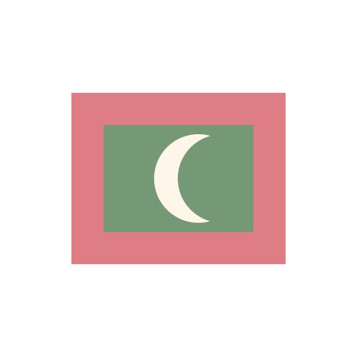 モルディブ 国旗 カラーアイコン フリー素材