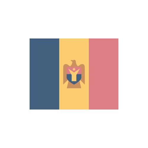 モルドバ 国旗 カラーアイコン フリー素材