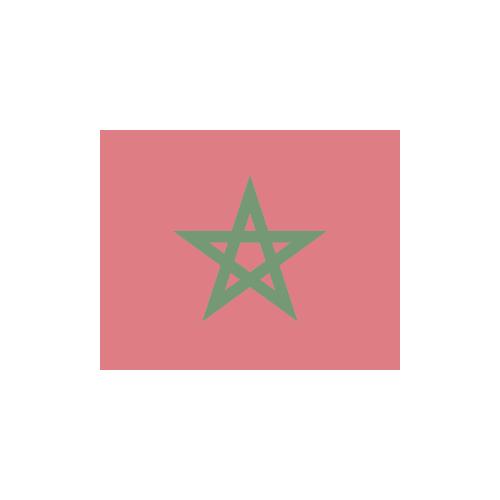 モロッコ 国旗 カラーアイコン フリー素材