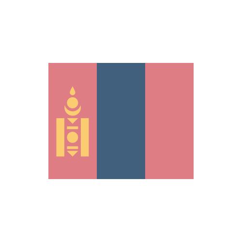 モンゴル 国旗 カラーアイコン フリー素材